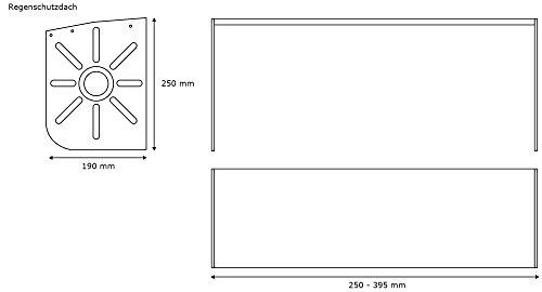 JAROLIFT Regenschutzdach für Basic Markise - 2