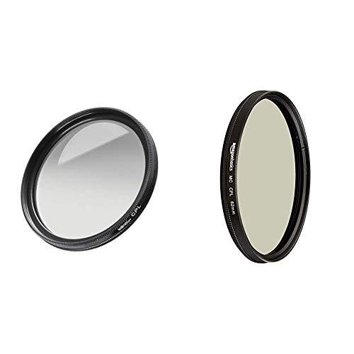 Walimex Pro Polfilter zirkular MC 82 mm (inkl. Schutzhülle) & AmazonBasics Zirkularer Polarisationsfilter - 82mm