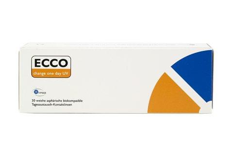 ECCO change One Day UV Tageslinsen weich, 30 Stück / BC 8.60 mm / DIA 14.20 mm / -3.25 Dioptrien