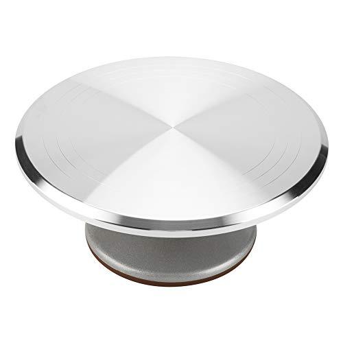 Tourne-Disque pour gâteau en Aluminium 12' décoré de tourbillons rotatifs pour décorer Les gâteaux