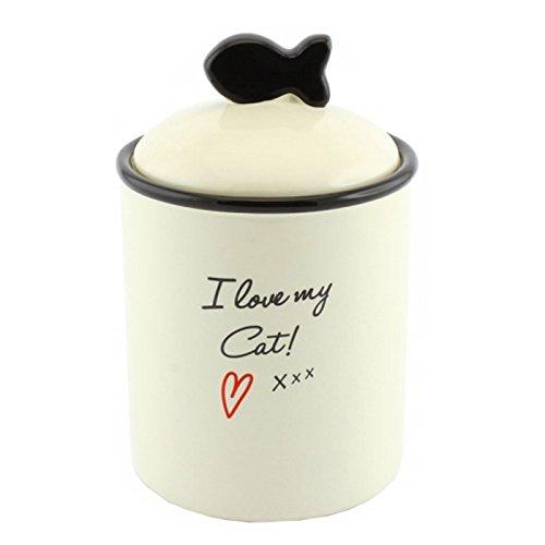 i-love-my-cat-pet-snack-treats-food-jar-lid-storage-biscuits-ceramic-kitten-new