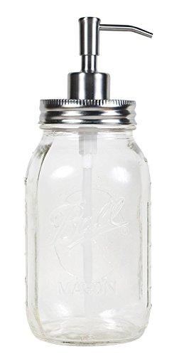 jarmazing Produkte Quart Größe Mason Jar Seife und Lotion Spender von?aus rostfreiem Edelstahl Mason Quart Jar