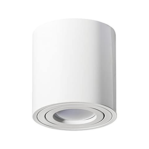 Aufbaustrahler Aufbauleuchte PALERMO Aufputz Deckenlampe Deckenleuchte Strahler Downlight ohne Leuchtmittel (RUND