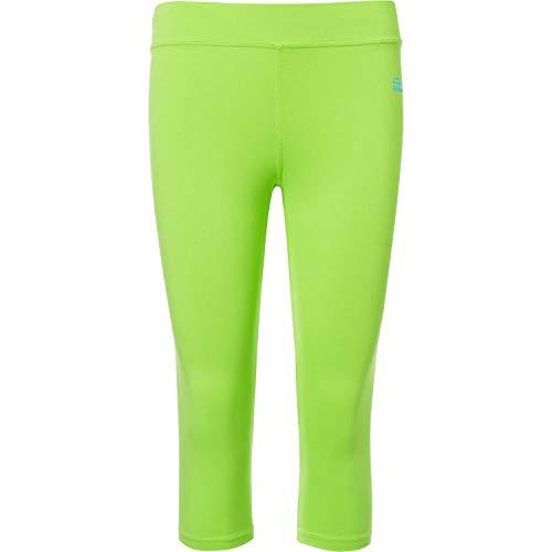 Sportkind Mädchen & Damen Tennis/Fitness/Sport 3/4 Leggings, neon grün, Gr. 122