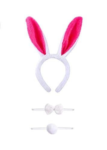 VADOO Plüsch Hase Ohren Haarbänder Stirnband Hasenohren,Bunny Plüsch Haarreifen,Easter Halloween Adult Children Hairband Rabbit Ear,Mottoparty Karneval Kostüm (Black Rabbit Halloween Kostüm)