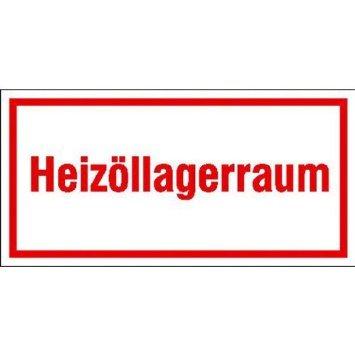 INDIGOS UG - Hinweisschild zur Betriebskennzeichnung Heizöllagerraum, selbstklebend, 20x10 cm