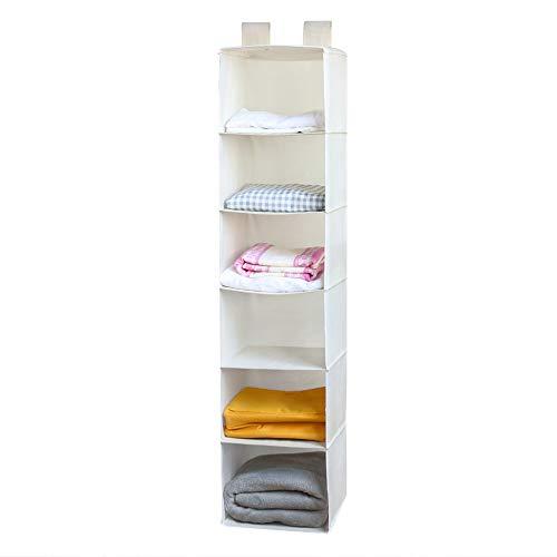 änge-Aufbewahrung, Kleiderschrank Hanging Organizer - 30L x 30W x 130H (cm) - Beige ()