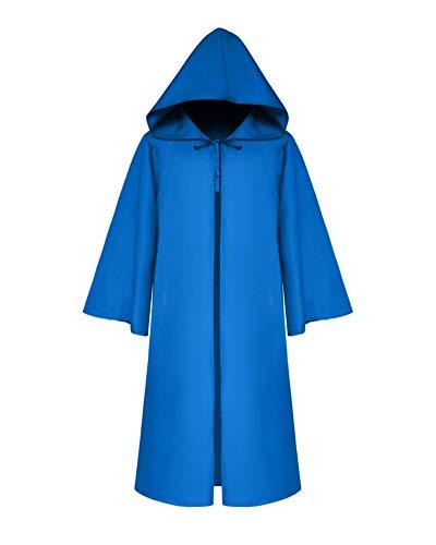 Halloween Für Erwachsene Umhang Cosplay Theater Prop Tod Mit Kapuze Mantel Fantasie Kostum Blau L