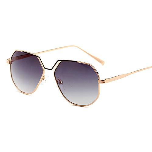 It's-ok Square Sunglasses Brand Sunglasses Women Driving Clear Sunglasses Men UV400 Sunglasses Mens Sunglasses,Gold Gray