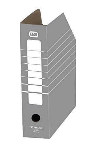 ELBA 100552043 Stehsammler tric 10 Stück mit Archivaufdruck für Kataloge und Zeitschriften in der Farbe grau