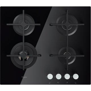 Whirlpool Goa 6423/nb Plaque – Plaque (intégré, gaz, verre, rotatif, partie supérieure avant, 8000 W) Noir