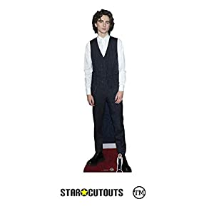 Star Cutouts Ltd- Star Cutouts CS817 Timothee Chalamet King Chaleco Increíble actor perfecto para los fans de altura 179 cm ancho 53 cm, Multicolor