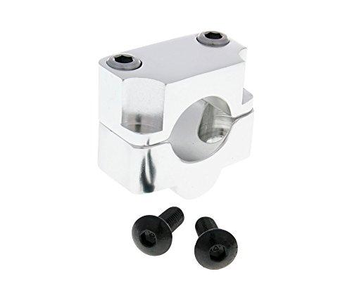 Lenkeranbaukit Lenkerklemme 22mm auf 28,6mm silber für CH-MOTO WSM Racing 50 AM6 -