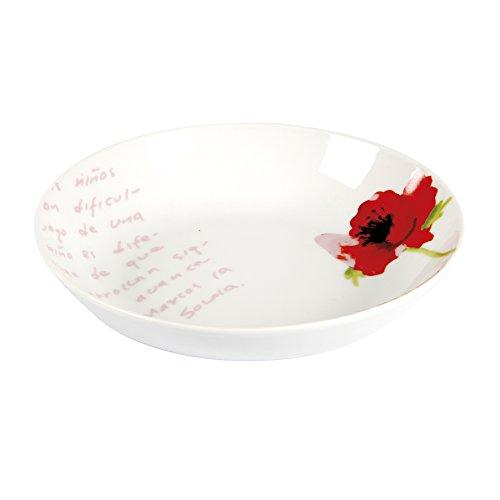 Delys-By-Verceral 514352 Lot de 6 Assiettes Creuse Porcelaine Rouge 20 cm