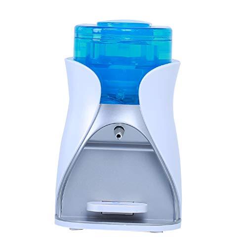 perfk Dispensador Automático de Jabón Soporte de Pared Herramientas Industrial Material Educativo - Blanco y azul
