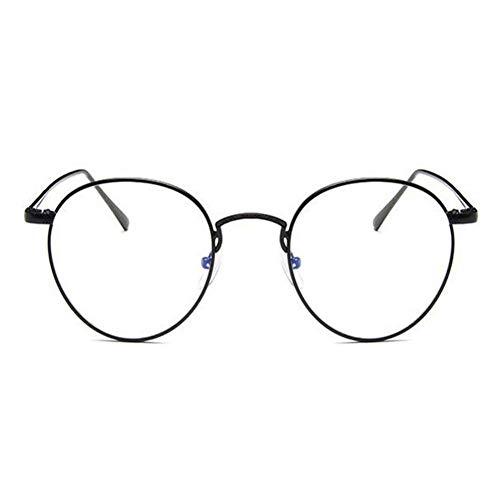 HPTAX-VB Spiegeln Stil Brille Vintage Runde Metallrahmen Eyewear Klare Linse Federscharnier Gläser Für Frauen Männer Anti-müdigkeit Brillen
