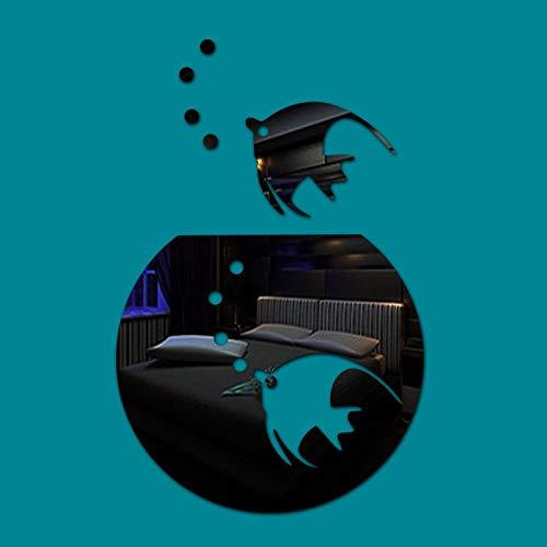 Wandaufkleber Spiegel wandaufkleber kreative aquarium dekoration wandaufkleber wohnzimmer schlafzimmer hintergrund stereo spiegel wandaufkleber, Spiegel schwarz -