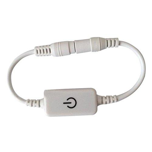 Dc 12v 24v Led Touch Dimmer Schalter Für Einfarbige Led Streifen,zwei Farbe - Weiß -
