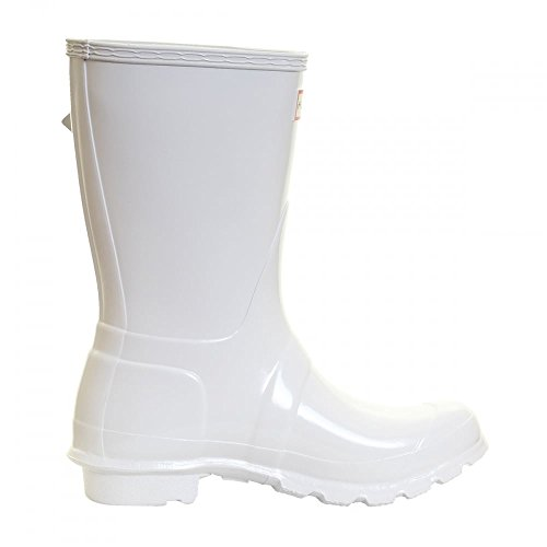 Hunter Original Short Gloss, Bottes femme white