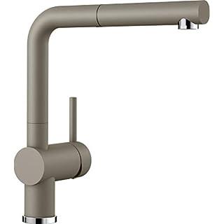 Blanco Linus-S, Küchenarmatur - Einhebelmischer mit ausziehbarer Schlauchbrause, tartufo, Hochdruck, 1 Stück, 517621