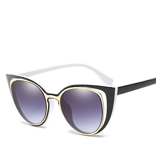 Sport-Sonnenbrillen, Vintage Sonnenbrillen, Fashion Cat Eye Sunglasses Women Retro Pierced Sun Glasses Uv400