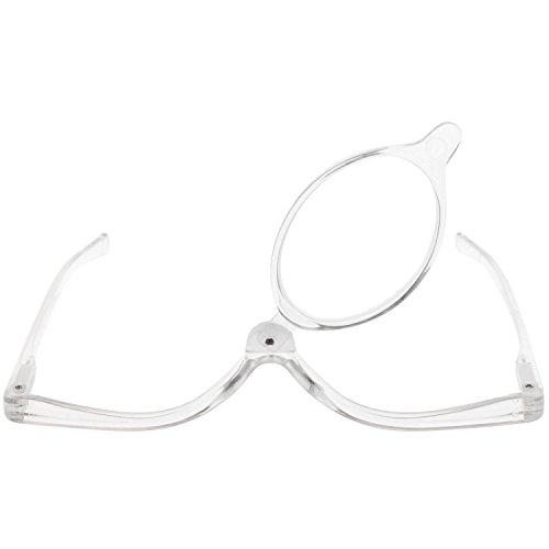 Schminkbrille mit Sehstärke in verschiedenen Farben - Schminkhilfe zum Schminken (1,5 dpt, klar)