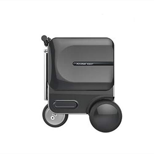 KASIQIWA Smart Riding Koffer, Disemble Battery Powerful Motor Bluetooth Lautsprecher TSA-Zoll-Lock Large Capacity Trunk,White