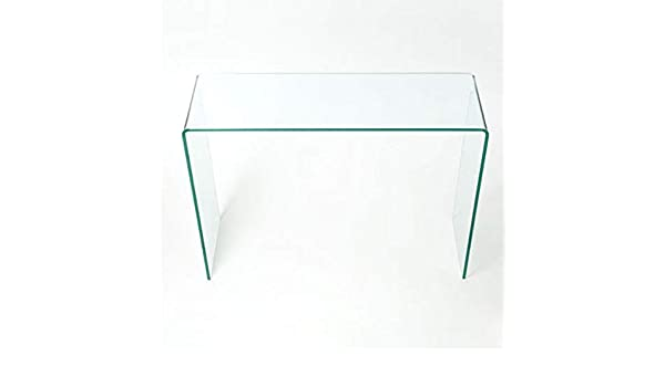 Curved Glass Console Table Small - 80cm Length x 30cm Width x 80cm Height   Amazon.co.uk  Kitchen   Home ff2611615f28