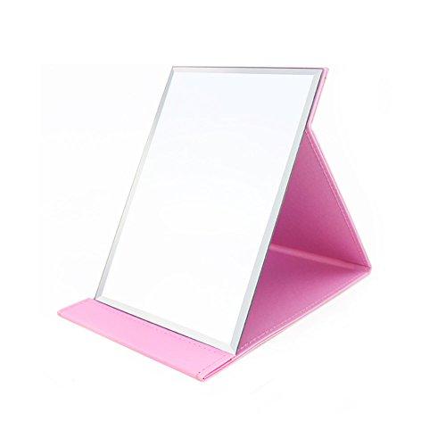 Miroirs de maquillage Miroirs cosmétiques haute définition portatifs Rose