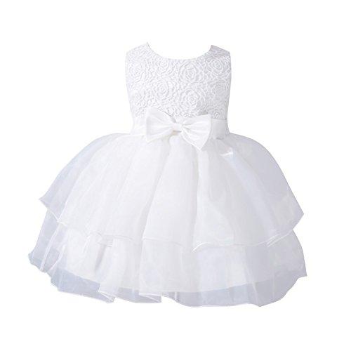 MORESAVE Neonate principessa di bowknot vestito dalla festa nuziale della damigella d'onore Abiti Organza