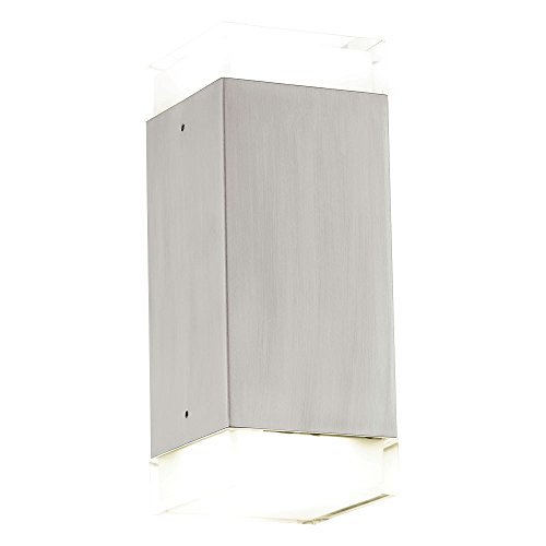 5 Watt LED Außen Wand Lampe Edelstahl Terrasse Garagen Beleuchtung IP44 EEK A+ Eglo 78055