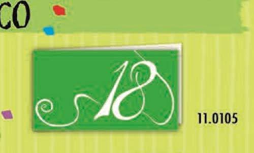 100 pz bigliettini bigliettino bomboniera diciottesimo 18 anni verde