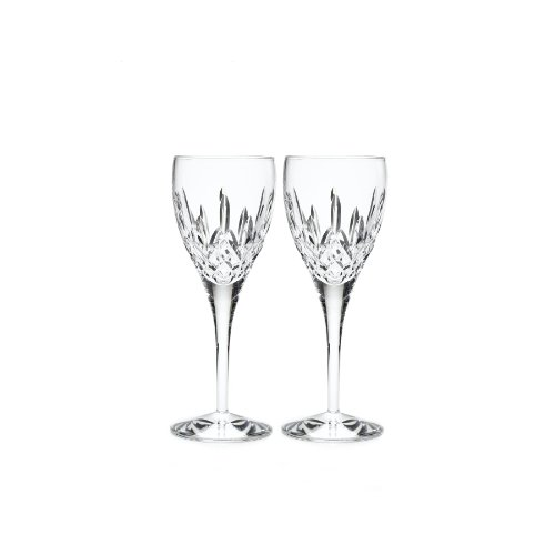 Waterford Lismore Nouveau Goblet Pair, 11-Ounce by Waterford Crystal Lismore Nouveau Waterford Crystal
