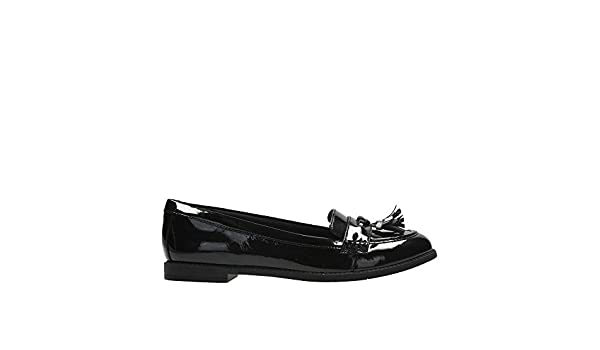 Girls Bootleg By Clarks Leather Loafer Flats *Preppy Edge*