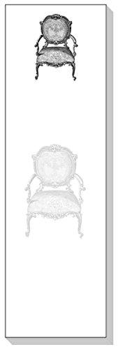ARS Antigua Slim Schreiben Blöcke (Notizbücher) • Chippendale French Vintage Stuhl • Gravur • zwei Blöcke je 50Blatt-insgesamt 100Bedruckte Blatt