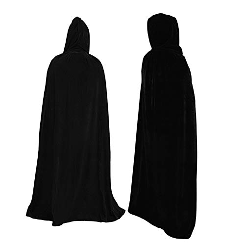 CYYMY Unisex Umhang mit Kapuze Halloween Umhang für Erwachsene Gold Samt Cosplay Vampir Tod Kostüm Halloween - Reversible Samt Kostüm