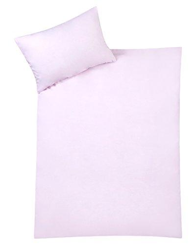 Julius Zöllner 85001 40761 - Bettwäsche Uni, Größe: 100x135 cm / 40x60 cm, uni rosa