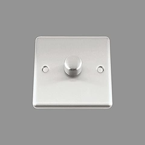 AET CSC1GDIM40 10 A 400 W 1-Gang 2-Way Satin Finish Chrome Classical Single Light Dimmer Switch