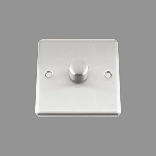AET csc1gdimled 10A 250W 1Gang 2-Wege-Satin Finish Chrom klassischen Single LED Licht Dimmer Schalter