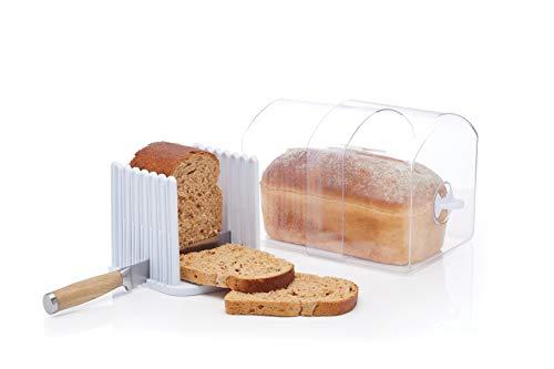 Kitchencraft Stay Fresh espansione Portiere Bin con Pane affettatrice Guida, Grande