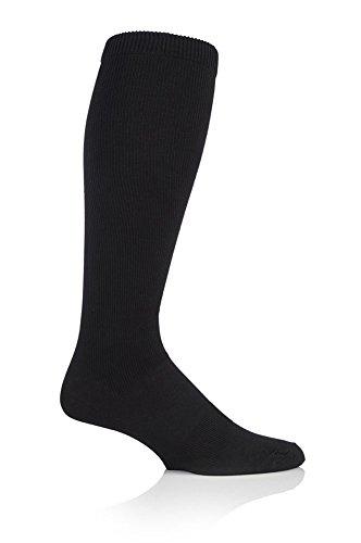 1 Paar Damen/Herren Kompressions-DVT Flug- und Reise-Socken Sock Shop uk 6-8), Schwarz (Reise Herren-socken)