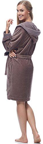 Merry Style Damen Bambusfasern Bademantel MSLL1002 Braun/Braun