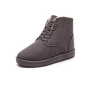 Ceanfly Damen Winter Schneestiefel Winterstiefel Stiefeletten Schlupfstiefel Boots Warm Martin Stiefel Winterschuhe