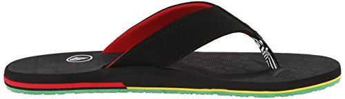 Volcom  VICTOR SANDAL, tongs mixte adulte Multicolore - Mehrfarbig (RASTA RAT)