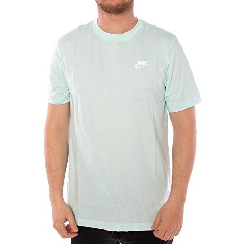 Nike Herren Club Tee T-Shirt, Teal Tint/White, L -