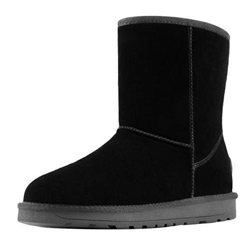 Cayuan Damen Schneestiefel Anti-Rutsch Winter Warme Boots Faux Pelz Gefüttert Walking Wandern Schuhe (Kinder Faux-pelz-stiefel Für)
