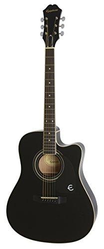 Epiphone FT-100CE - Guitarra electro acústica, color negro