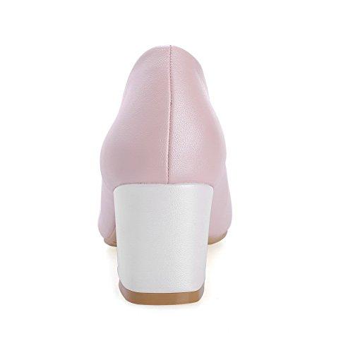 Rotonda Rosa Per Pompe Signore Gattino Mettere Gomma Perla Solida Di tacchi Sul toe scarpe Balamasa 6yZIwpqp