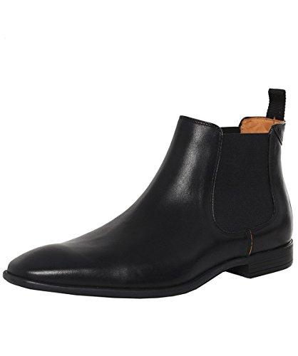 PS by Paul Smith Hommes Leather Falconer Chelsea Boots Noir Noir