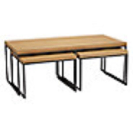 Used, Calia Coffee Table with Nest of 2 Tables, Oak for sale  Delivered anywhere in UK